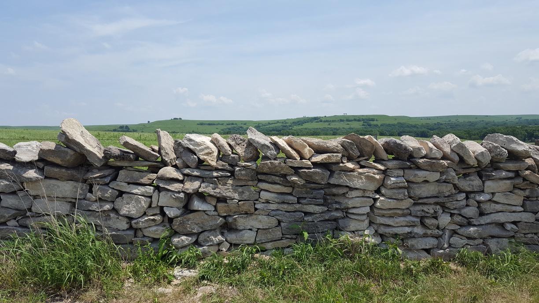 Stacked Stone Fence