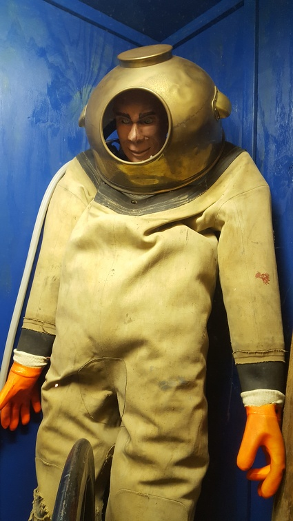 I suspect this diver is up to no good. Also that the mannequin was not from the original maritime museum.