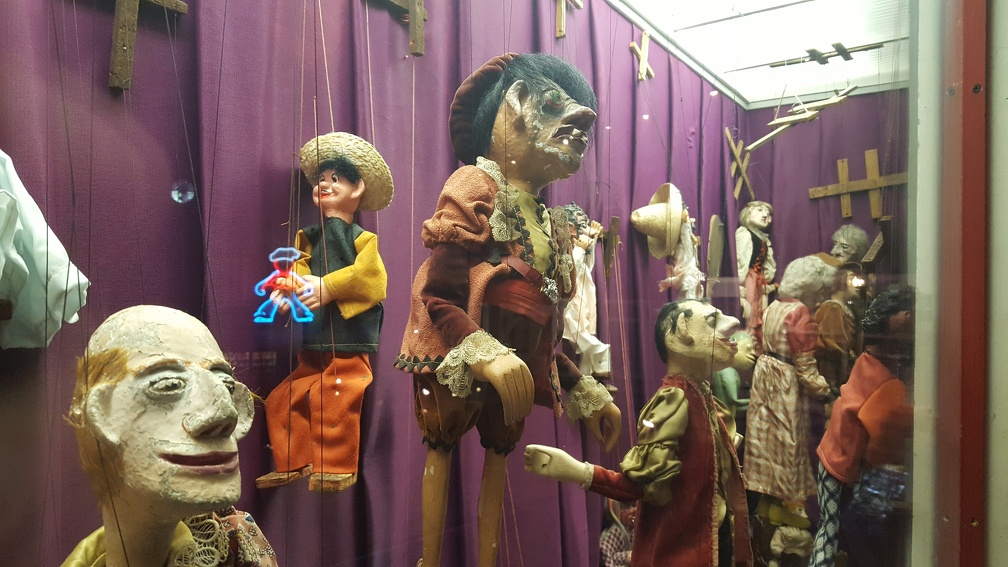 Right, after the desecrated maritime museum we have a random display of terrifying puppets!
