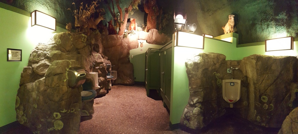 I felt like a weirdo stopping in every men's room I could find, but it was totally worth it.