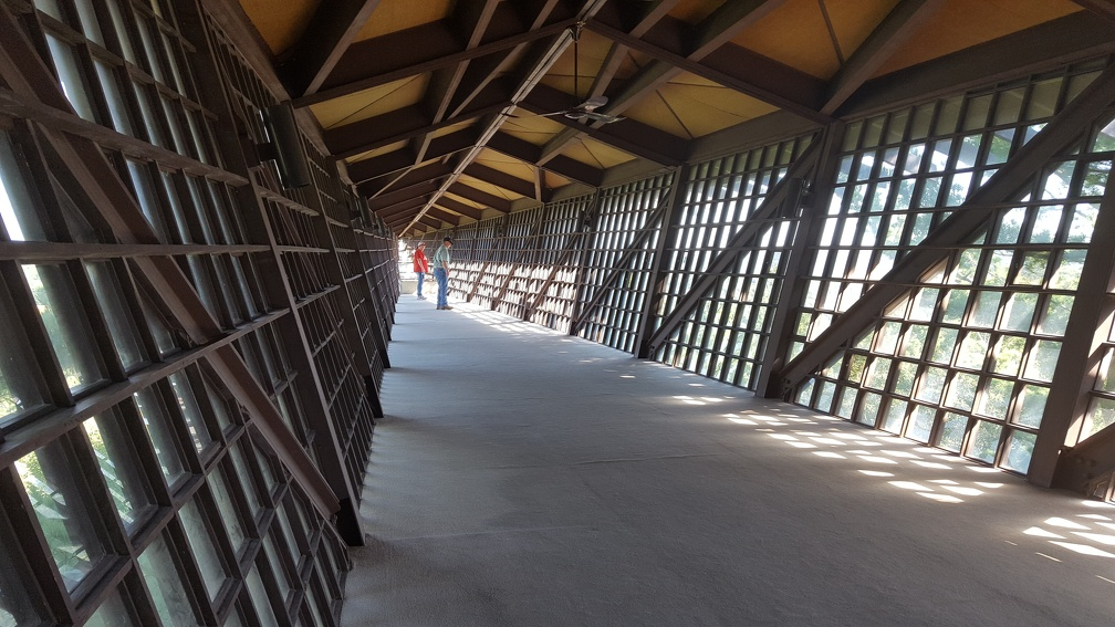 The Infinity Room. A giant spire, hanging sideways out the building reaching out over the valley.